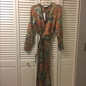 ASOS Dresses - NWT floral print kimono wrap dress